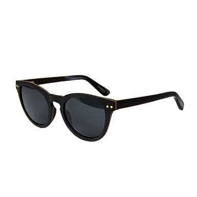 7cbbeb80020075 WOLA lunette de soleil bois ovales FORREST lunettes rondes bois e acétate  femmes hommes ébène