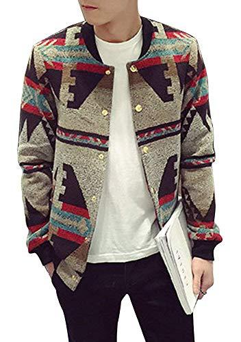 Chaqueta De Otoño Moda Hombre Para Gabardina Estampado Outwear Apricot Ropa Con Suelta Vintage Chaquetas Estampadas Impermeable rq0r148w