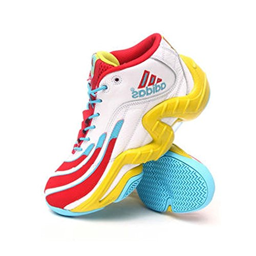 Adidas Men REAL DEAL RUNWHT/LGAQUA/LABLIM Vollyball Shoe 10.5 M US
