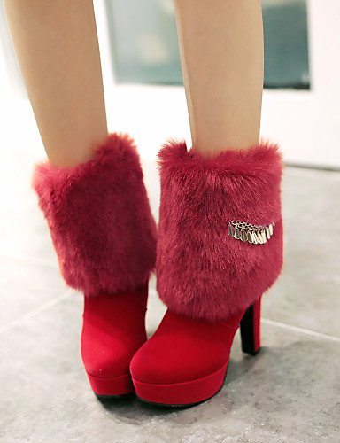 5 cn35 red Rojo Botas us8 mujer uk3 red Punta cn39 Redonda Tacón de uk6 cn39 Stiletto us5 Casual eu39 Semicuero red 5 Negro eu36 eu39 us8 Zapatos XZZ uk6 SwTCqPfx