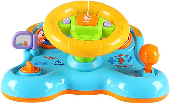Play and Learn Musical Toy Driver Baby Steering Wheel with Lights Sounds Toddler