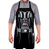 Vitalco Darth Vader Men's Adjustable Apron | Star Wars Grill Father BBQ Men's | Adult Size 100% Cotton