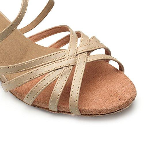 Ladys Belle Salle De Bal De Beauté Chaussures De Danse Pour La Salsa Latine Chacha Couleur De La Peau Rumba Pratique