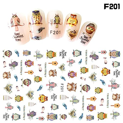 Ecurson 1Pcs Women Nail Art Nail Sticker Halloween Designs Girl Beauty Nail Tools Nail Sticker Flowers Star Pattern (No Tool Halloween Nail Art)