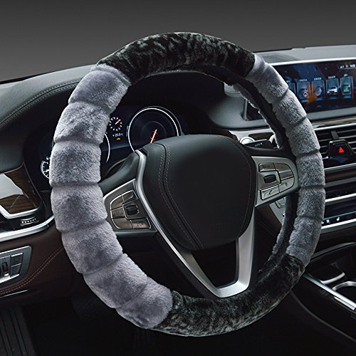 Price comparison product image Car Steering Wheel Covers for Men Girls & Women Warm Steering Wheel Cover with Fur for Winter
