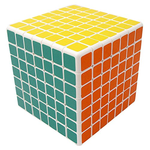 V5-Cube® Shengshou 7x7x7 Functional Spring Structured Square Speed Puzzle Cube,White