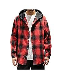 Men Long Sleeve Hoodies Sweatshirt, Male Fashion Button Striped Printed T-Shirt Blouse Tops Sport Coat