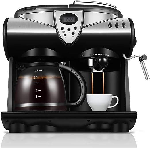 MJYDQ Cafetera - Combinación de Bomba de Espresso y máquina de Goteo con Sistema avanzado de Capuchino: Amazon.es: Hogar