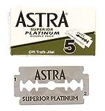 Astra Superior Platinum Double Edge Razor Blades - 10 Ct