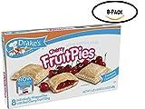 Drake's Cherry Fruit Pies, 8 Apple Pies Per Box, 17.16 Ounces (8-Boxes)