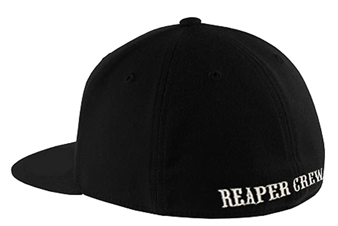 SOA Sons of Anarchy Reaper Crew Fitted Baseball Cap Hat (Adult Small Medium) 13edc80612ac