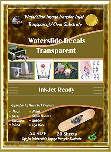 - Water-Slide Photo Image Transfer Paper Substrate. Clear Decal Inkjet Ready Paper Film