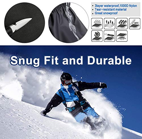 EnergeticSky-Leg-Gaiters-Waterproof-Snow-Boot-Gaiters-for-Men-and-WomenGaiters-for-HikingSnowshoeingHuntingClimbingRunning1000D-Anti-Tear-Oxford-Cloth-Hiking-Gaiters-2