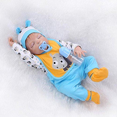 Evursua Lifelike Silicone Reborn Babies Sleeping Newborn