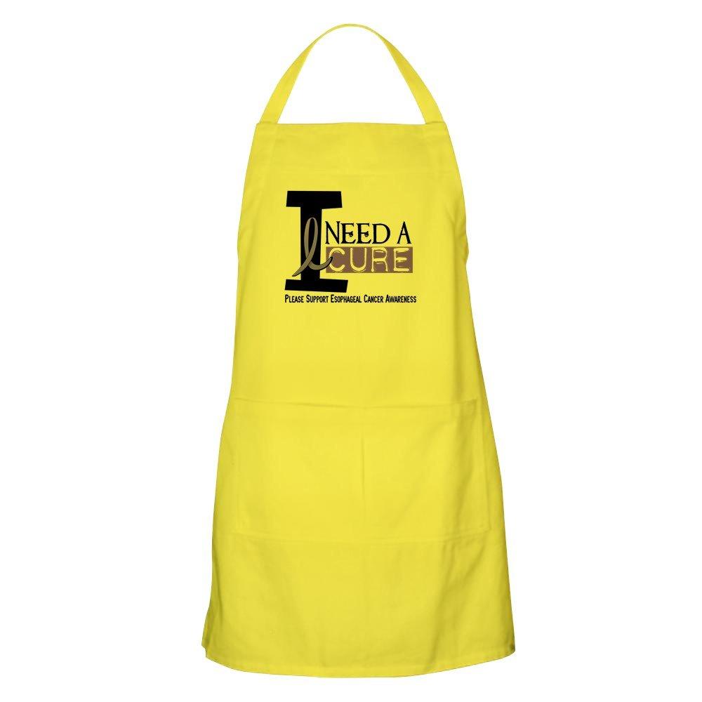CafePress I Need A Cure エソフィジール キャンサー BBQ グリルエプロン イエロー 035649297529A30  レモン B073WQT7XV