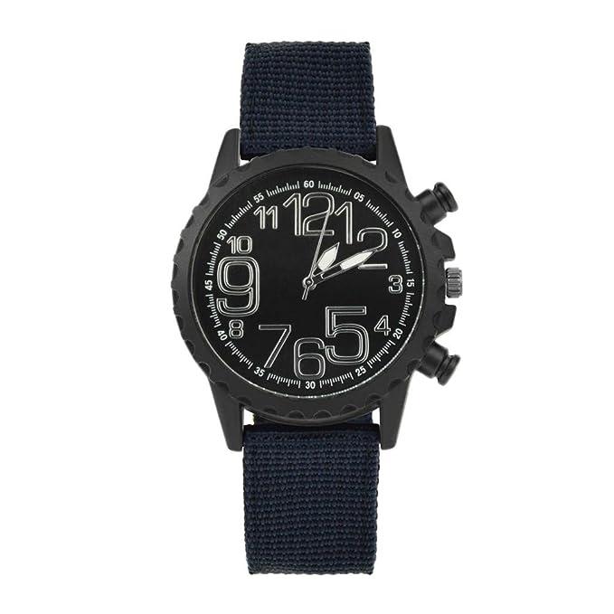 Rcool Relojes suizos relojes de lujo Relojes de pulsera Relojes para mujer Relojes para hombre Relojes deportivos,Banda nylon de diseño retro reloj de ...