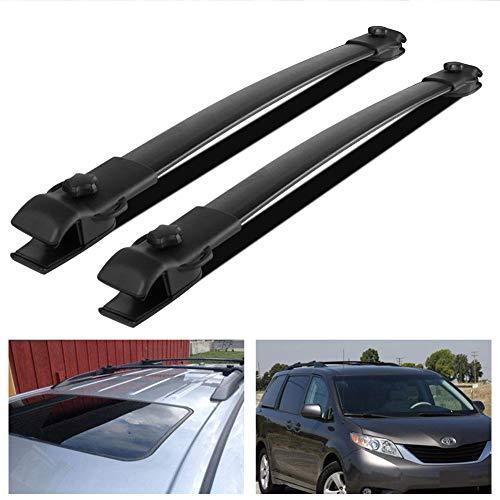 Ai CAR FUN Black Roof Rack Cross Bar Top Roof Rail Luggage Cargo Rack Rails Carrier for 2011-2018 Toyota ()