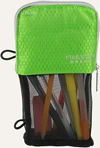 Mead Stand N Store Pencil Pouch, New Honey Comb Design (Green)]()