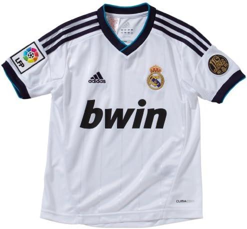 Adidas Real Madrid C.F. - Camiseta del Real Madrid 2012-2013 infantil, 18 años, color blanco: Amazon.es: Ropa y accesorios