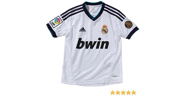 Adidas Real Madrid CF - Camiseta del Real Madrid 2012-2013 infantil, color blanco