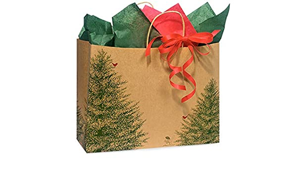 Christmas Bags In Bulk.Amazon Com Christmas Gift Bags Vogue Evergreen Recycled