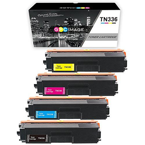 GPC Image 4 Pack Compatible Toner Cartridge Replacement for Brother TN336 TN-336 TN336BK TN336C TN336M TN336Y (1 Black, 1 Cyan, 1 Magenta, 1 Yellow) for Brother MFC-L8850CDW HL-L8350CDW MFC-L8600CDW