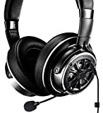 1MORE H1707 Triple Driver Over-Ear Headphones Bundle with Antlion Audio ModMic 4 Without Mute Switch, and Blucoil Y Splitter for Audio, Mic