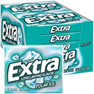 EXTRA Polar Ice Sugar Free Chewing Gum, 15 pieces (10 Pack)