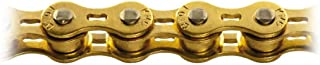 KMC Catena 1/2'' x 1/8'' per single speed e pista, d101 oro Bicycle chain size 1/2'' x 1/8'' for single speed and track, d101 gold
