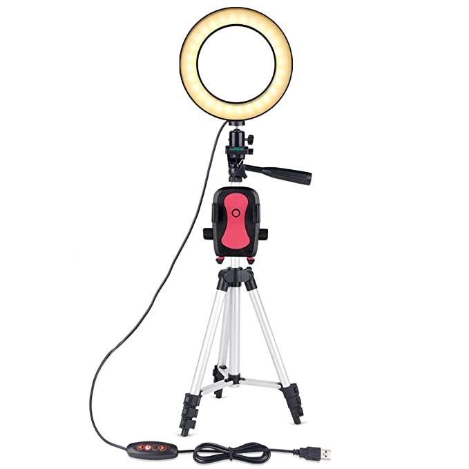 19d2f0d1f90c B-Land 6.2 quot  Ring Light with Tripod Stand for YouTube Video and Makeup