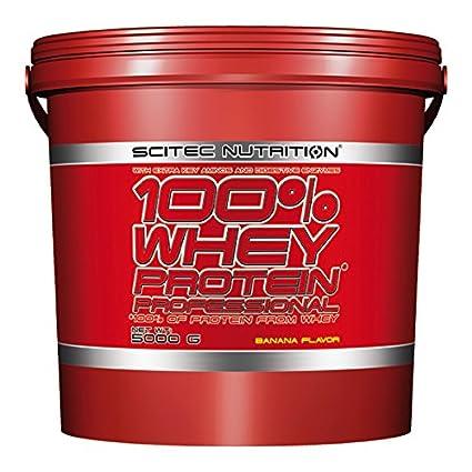 Scitec Nutrition 100% Whey Protein, Suplemento Nutricional de Proteinas con Sabor de Platano,