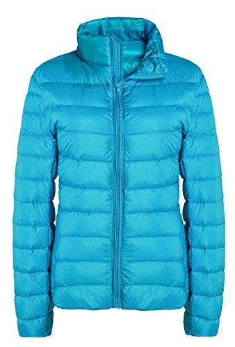 ZSHOW Women's Outwear Down Coat Lightweight Packable Powder Pillow Down Jackets, US Large, Acid (Large Womens Coat)