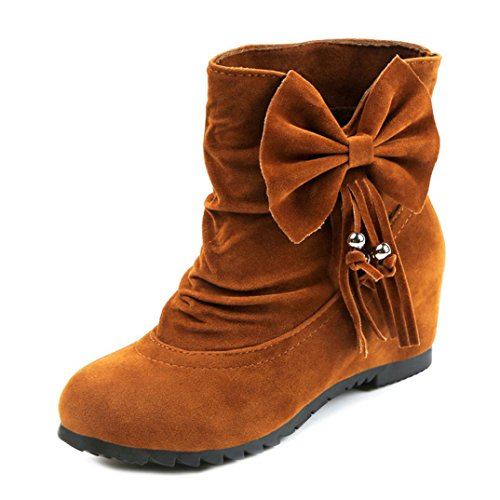 Sonnena Women's Boots Winter Boots Warm Ankle Boots Warm Winter Shoes UK Size Brown