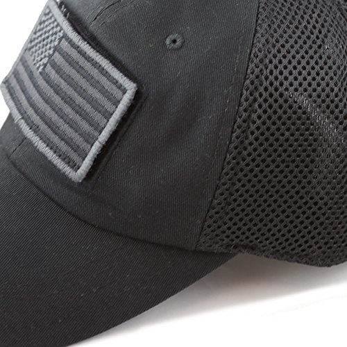 THE HAT DEPOT Low Profile Tactical Operator With USA Flag Patch Buckle  Cotton Cap (USA 98fb23cd30d2