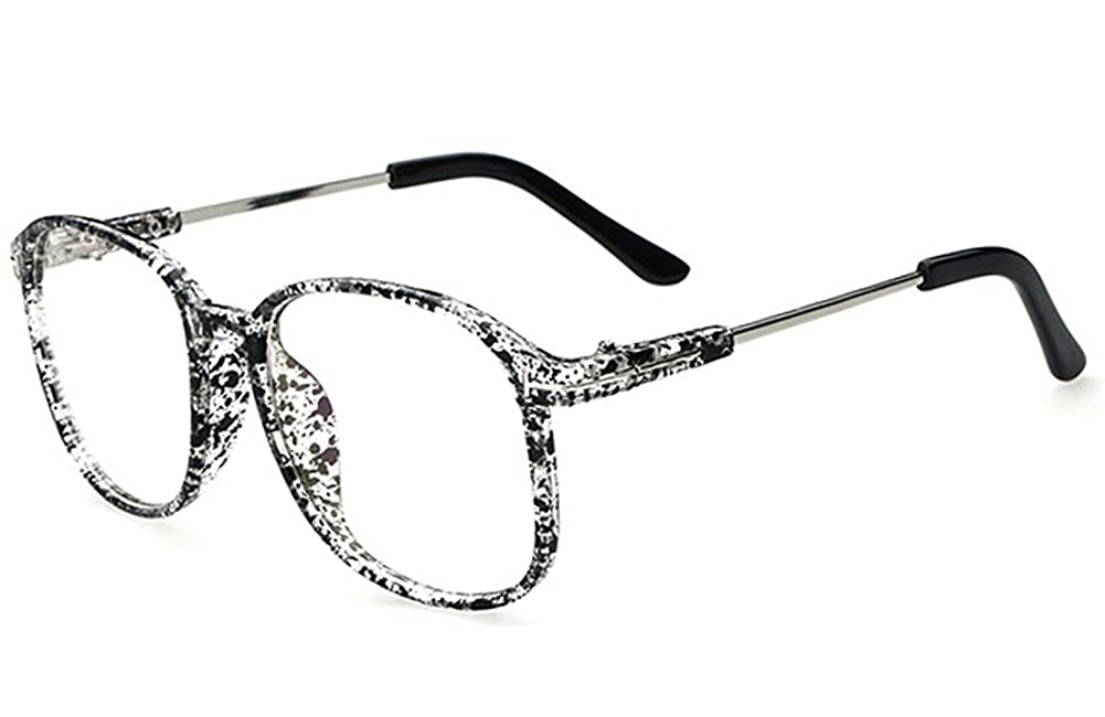 cdefc8ee44 Kissing U Vintage Retro Classic Style Oversized Full Frame Nerd Geek Clear  Lens Eye Glasses