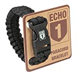 Echo One ECHO1-PB-B Paracord Bracelet, Black