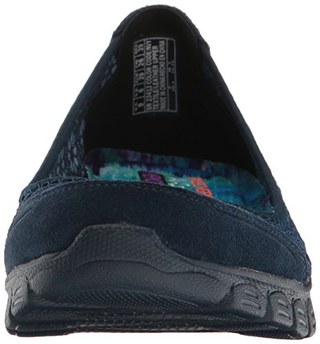 Skechers Donne Sportive Ez Flex Maestà Volubile Slip-on Della Marina Piatta