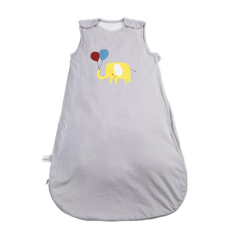 i-baby Baby Newborn Sleeping Bags Summer Autumn Sleep Sacks Infant Boys Girls Slumber Sleepsacks Sleeveless Wearable Blanket Wrap Cotton Swaddling 1 2 Years TOG 3 (Grey, 6-24 Months)