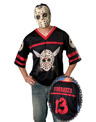 Friday The 13th Jason Hockey Jersey And Mask, Black, ()