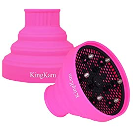 Collapsible Silicone Hair Dryer Diffuser - Travel and Easy Storage - Fit Nozzle Diameter D-1.575Inch to 1.968 Inch (4-5cm)-Pink - 51cptDmTsUL - Collapsible Silicone Hair Dryer Diffuser – Travel and Easy Storage – Fit Nozzle Diameter D-1.575Inch to 1.968 Inch (4-5cm)-Pink