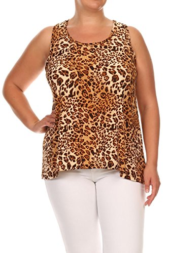 Pastel by Vivienne Women's Lightweight Race Tank Top X-Large Cheetah (Cheetah Tank)