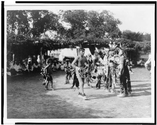 Photo: Skidi, Wichita dancers, Pawnee Indians, spiritual life, ceremonial dress, faith, c1927 . Size by Infinite Photographs