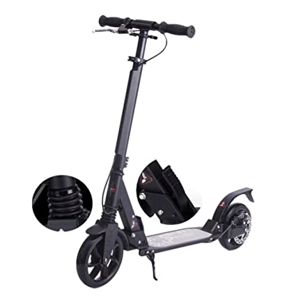 Amazon.com: ZAIHW Kick Scooter con frenos de disco, diseño ...