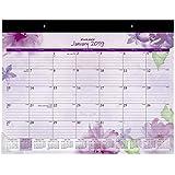 "AT-A-GLANCE 2019 Desk Calendar, Desk Pad, 21-3/4"" x 17"", Standard, Beautiful Day, Lavender (SK38-704)"