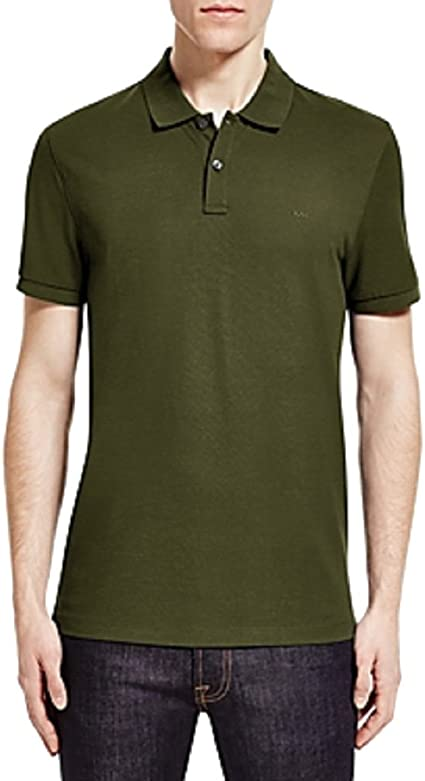 Michael Kors Camiseta de polo para hombre XX-Large Verde ...