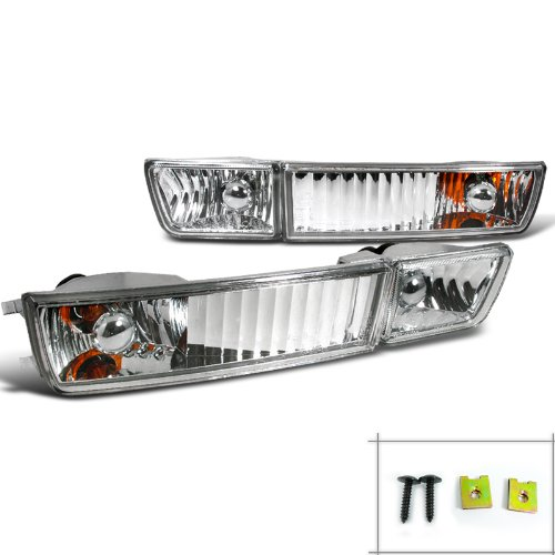 Spec-D Tuning LF-GLF93-TM Volkswagon Golf Jetta Cabrio Chrome Fog Lights, Bumper Lights (Jetta Sedan Gl)