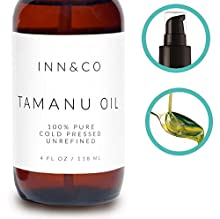 Our Tamanu Oil contains a number of rare anti-inflammatory substances including coumarins, calophyllolide and delta-tocotrienol. These powerful natural plant compounds help heal and soothe the tissue when the oil is applied directly on the sk...