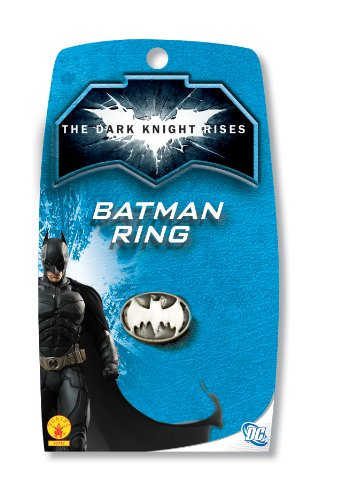 [Batman: The Dark Knight Rises: Batman Ring (White)] (Blue Bull Mascot Costume)