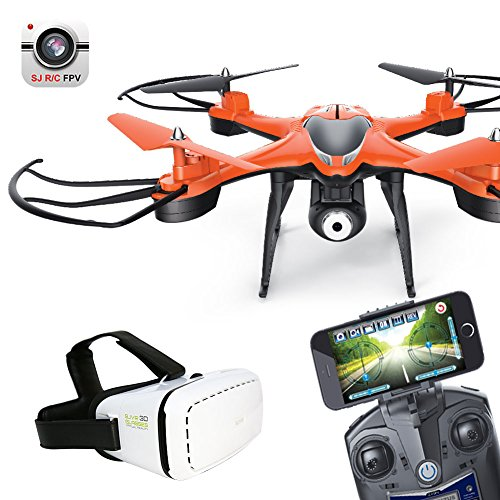 Haihuic 6-Axis HD WiFi Camera FPV Live Transmission with VR Glasses 2.4Ghz 4CH RC Drone Orange