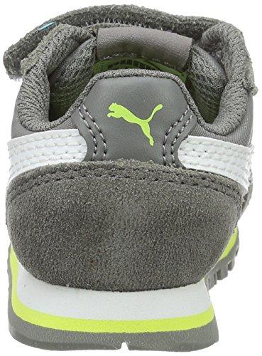 Puma St Runner Nl V Inf, Zapatillas Unisex Niños Gris (Steel Gray-puma White 14)